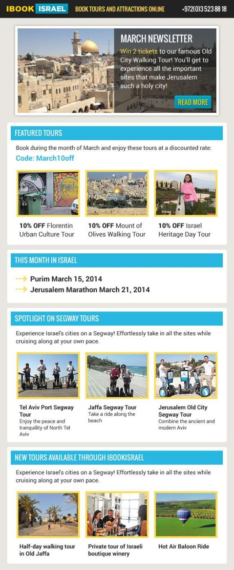 March Newsletter - Travel Insider Israel